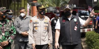 Bupati Kediri Pimpin Apel Gelar Pasukan dan Peralatan Dalam Rangka Tanggap Bencana