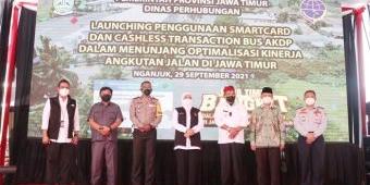 Bank Jatim Launching Pembayaran Tiket Bus AKDP Secara Cashless di Nganjuk