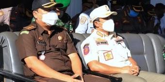 Wawali Pasuruan Bersama Forkopimda Hadiri Apel Gelar Pasukan Operasi Patuh Semeru 2021