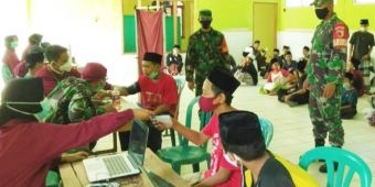 Koramil Ngawi Kota Pantau Vaksinasi Santri Ponpes Darul Quran