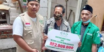 Berkah Ramadan, Anggota Banser Simokerto Kembali Punya Rumah Layak Huni