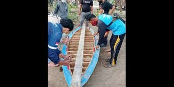 Kembangkan Pokdarwis Bunder, Dosen dan Mahasiswa TKM Poliwangi Buat Perahu Canoe Berbahan Kayu Strip