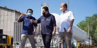 Dikunjungi Menteri BUMN, Petrokimia Siap Suplai 23 Ton Oksigen per Hari untuk Penanganan Covid-19