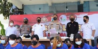 Jaring 32 Tersangka Selama Operasi Tumpas Narkoba, Polres Kediri Juara II se-Polda Jatim