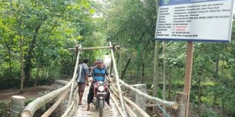 Baru Dianggarkan Rp 199 Juta, Jembatan di Ponorogo ini Berwujud Bambu dan Sesek
