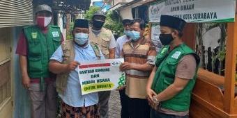 LAZISNU Surabaya Salurkan Bantuan Rombong Bakso dan Modal Usaha
