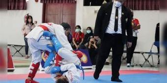 Sempat Alami Cedera di Laga Final, Atlet Jujitsu Kota Kediri Raih Medali Emas di PON XX Papua 2021