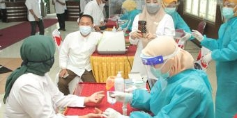 Pascalibur Lebaran, Pejabat Pemkot Probolinggo Jalani Rapid Test Antigen