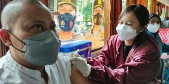 Polresta Sidoarjo Gandeng Wartawan Giatkan Vaksinasi Covid-19