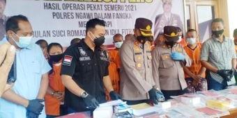 Operasi Pekat Polres Ngawi Jelang Ramadan Amankan 85 Tersangka, Didominasi Kasus Judi