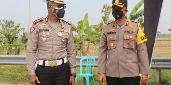 Dirlantas Polda Jatim Cek Kesiapan Pos Pengendalian PPKM Darurat di Exit Tol Ngawi