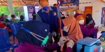 Satgas Covid-19 NasDem Peduli Gelar Vaksinasi Dosis ke-2 di Desa Wonojoyo