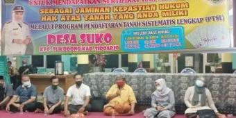 Tasyakuran dan Tumpengan Awali Rakor Panitia PTSL Desa Suko Sidoarjo