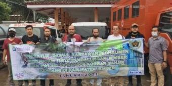 Perumdam Tirta Pandalungan Jember Gandeng PWI Berikan Bantuan untuk Korban Banjir Bandang