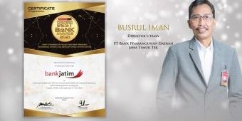 Bank Jatim Raih Penghargaan Indonesia Best Bank 2021