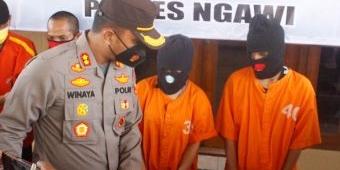 Edarkan Narkoba, Mama Muda dan Seorang Pemuda di Ngawi Diringkus Polisi