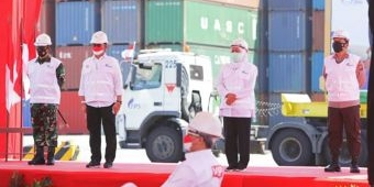 Pelepasan Merdeka Ekspor Pertanian oleh Presiden Jokowi, Jatim Sumbang Rp 1,3 Trilliun