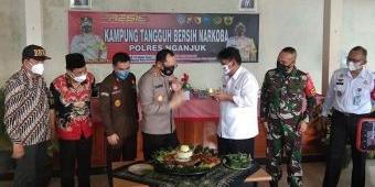 Plt Bupati dan Polres Nganjuk Launching Kampung Tangguh Bersih Narkoba di Desa Tanjungrejo