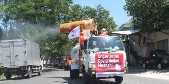 PMI Jatim Terjunkan Mobil Gunner ke Bojonegoro, Semprot Disenfektan di Area Kota