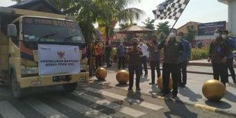 Wali Kota Madiun Berangkatkan Bantuan Beras Tahap Kedua untuk Warga Terdampak PPKM Covid-19