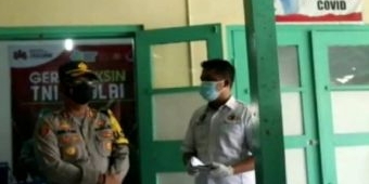 Kapolres Madiun Kota Tinjau Vaksinasi Covid-19 di Kecamatan Jiwan