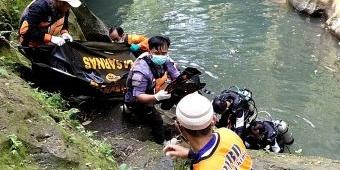 Pelajar SMK Tewas Tenggelam di Sungai Kali Biru Kediri
