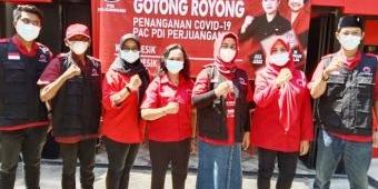 PDIP Gresik Launching 16 Posko Gotong Royong Penanganan Covid-19 Sekaligus
