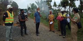 Ketua DPRD Kabupaten Pasuruan Sidak Jalan Kali Pucang-Andonosari