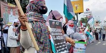 Ratusan Masa PUI Kediri Raya Demo Dukung Palestina Merdeka
