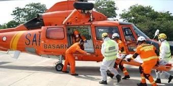 Jasa Marga dan Basarnas Gelar Simulasi Penyelamatan Khusus Kecelakaan Menggunakan Helikopter
