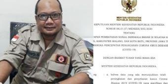 Resmi, Kemenkes Turunkan SK Pemberlakuan PSBB Malang Raya