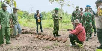 8 Mortir Ditemukan di Lahan Milik Petani di Ponorogo, Diduga Masih Aktif