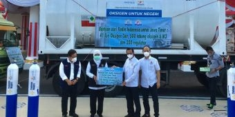 Tangani Covid-19 di Jatim, Kadin Indonesia Bantu 41 Ton Oksigen Cair dan 500 Tabung