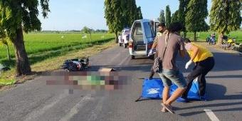 Tabrak Penyeberang Jalan, Pengendara Motor di Tuban Tersenggol dan Tewas Dilindas Truk Trailer