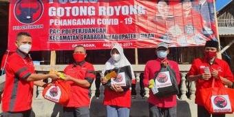 Bantu Masyarakat Terdampak Pandemi, Kader Banteng Tuban Perbanyak Posko Gotong Royong