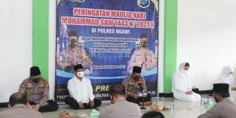 Polres Ngawi Peringati Maulid Nabi Muhammad SAW Secara Sederhana