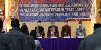 Alami Penurunan, KPU Tetapkan DPT Pilkada Jember 1.825.386 Pemilih