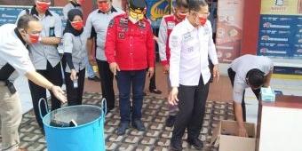 Berantas Halinar, Lapas Ngawi Musnahkan Puluhan HP Warga Binaan