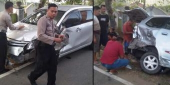 Sopir Ngantuk, Avanza Sasak Xenia yang Sedang Parkir di TPU Kucur Pacitan