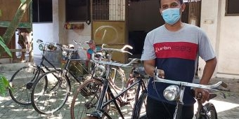 Mengintip Ratusan Koleksi Sepeda Tua di Kediri, Terbanyak Buatan Belanda dan Inggris