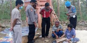 Seorang Perempuan Linglung Diduga Warga Semarang Ditemukan Petani Porang di Tengah Hutan Madiun