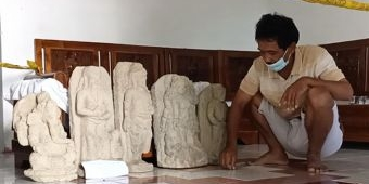 Warga Puncu Temukan Lima Arca Diduga Peninggalan Kerajaan Majapahit