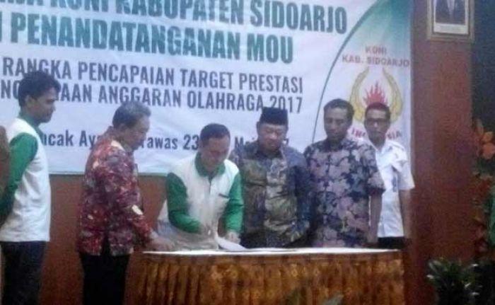 Gelar Rapat Kerja, KONI Sidoarjo Siapkan Cabor Hadapi Porprov Jatim 2018